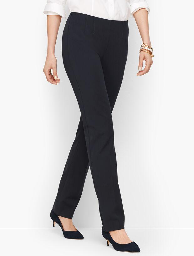 Refined Bi-Stretch Side-Zip Straight-Leg - Curvy Fit