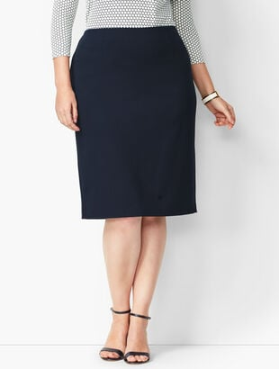 Refined Ponte Pencil Skirt - Solid