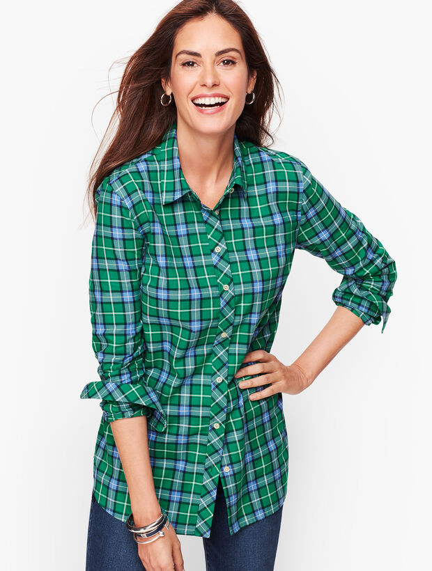Classic Cotton Shirt - Juniper Ivy Plaid