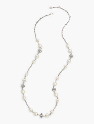 Pearl & Pavé Layer Necklace