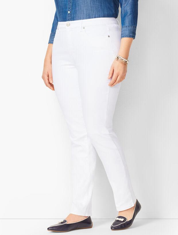 Plus Size High-Waist Straight-Leg Jeans