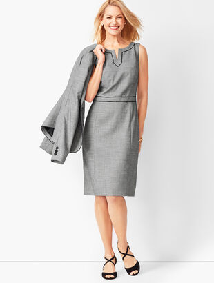 Westport Split-Neck Sheath Dress