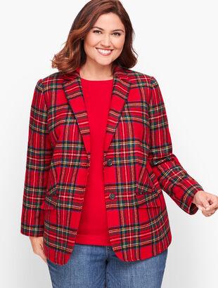 Shetland Wool Blazer - Plaid
