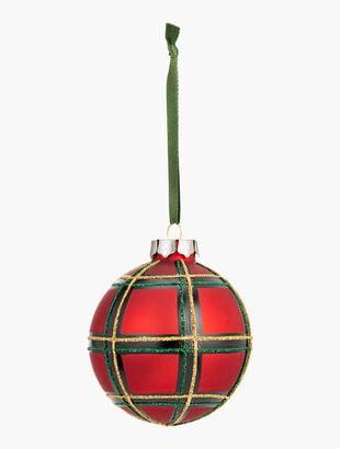 Red Tartan Plaid Ornament