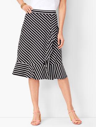 889731ba0e Jersey Cascading Midi Skirt - Stripe