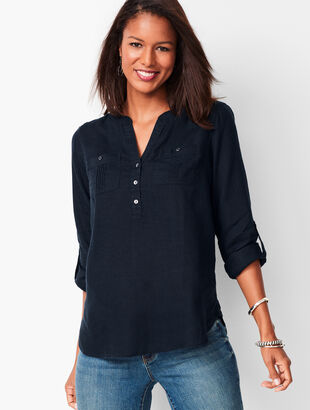 3c5e632e277 Linen Camp Shirt - Piece-Dyed