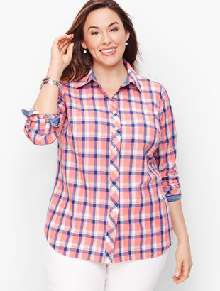 Classic Cotton Shirt - Crisp Plaid