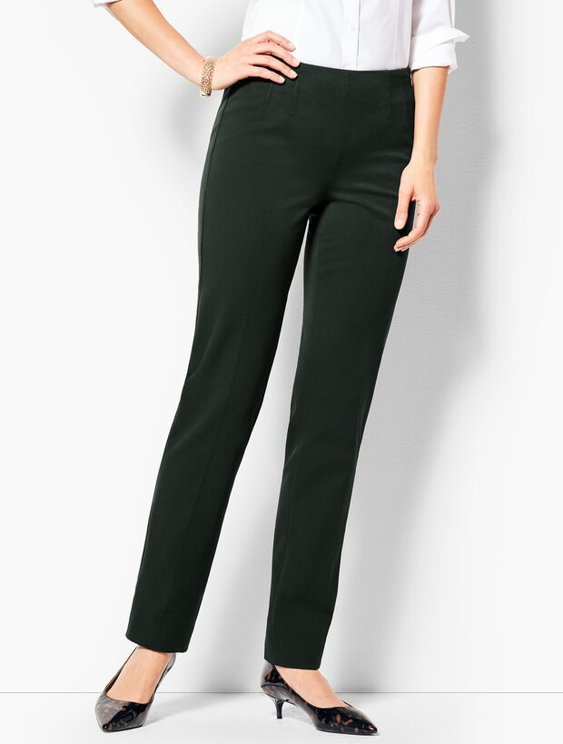 d0e7dbab47fd8 Refined Bi-Stretch Straight-Leg Pants