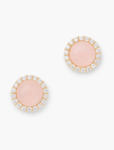 Gold-Plated Sterling Silver Semiprecious Sparkle Stud Earrings