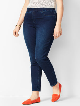 Comfort Stretch Pull-On Denim Jegging - Benning Wash