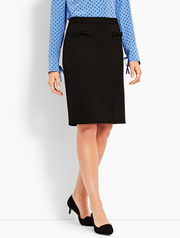 Refined Ponte Pencil Skirt