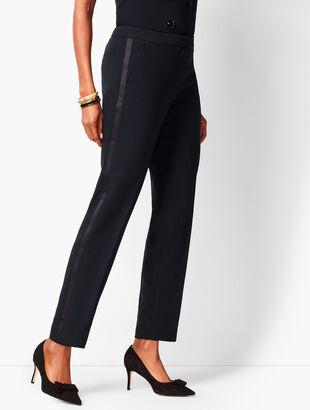 Refined Crepe Slim Ankle Pants