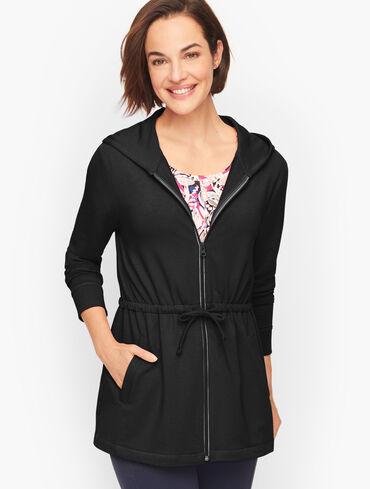 Pima Terry Hooded Jacket