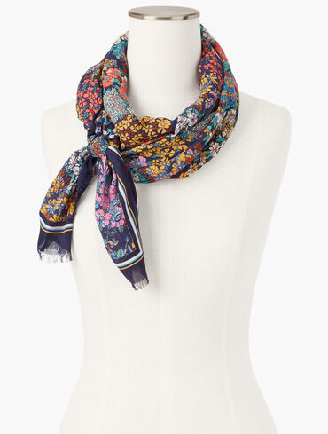 Ditsy Floral Oblong Scarf