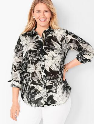 Classic Cotton Shirt - Fern Print