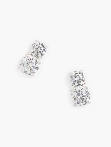 Sterling Silver Tennis Earrings