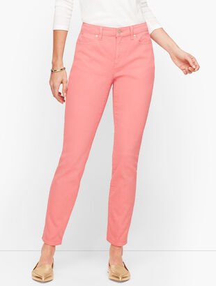 Slim Ankle Jeans - Curvy Fit - Garment Dyed Dusty Peach