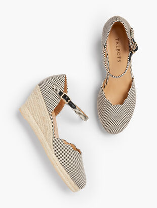 Lyndsay Espadrille Wedges - Two-Tone