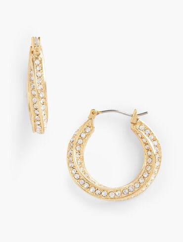 Pavé Twist Hoop Earrings