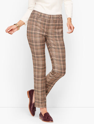Talbots Hampshire  Ankle Pants - Luxe Flannel Plaid