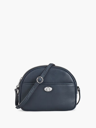 Half Moon Leather Bag - Pebbled Leather