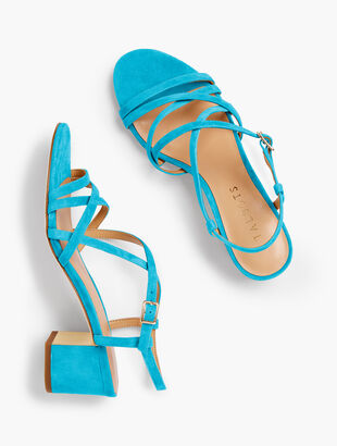 Mimi Strappy Block-Heel Sandals