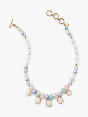 Semiprecious Stone Statement Necklace
