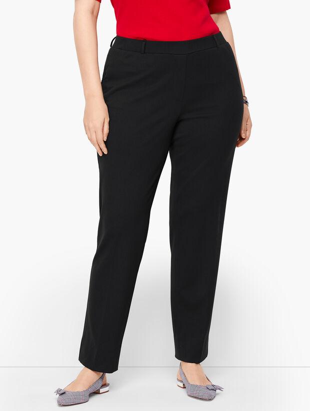Plus Size Refined Ponte Straight Leg Pants