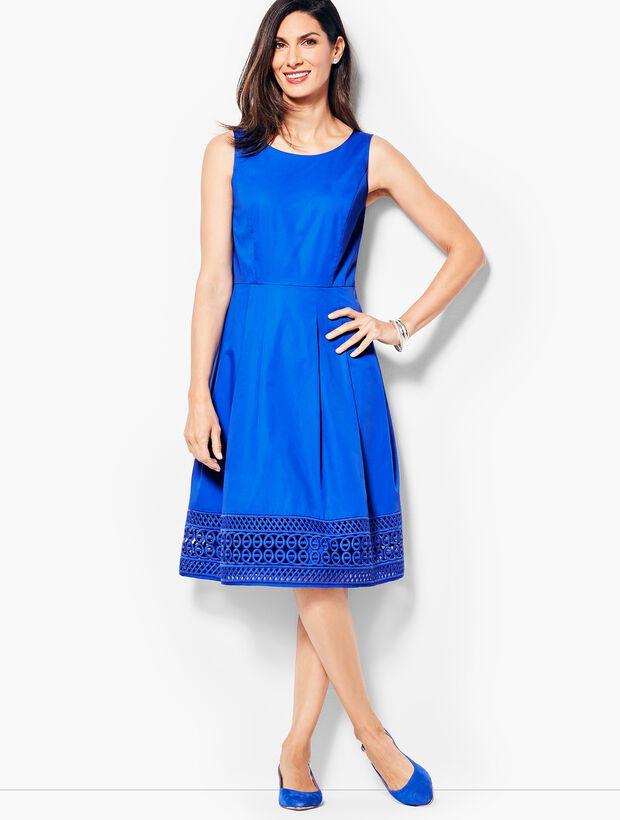 Sateen Fit & Flare Dress