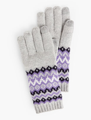Fair Isle Touch Gloves