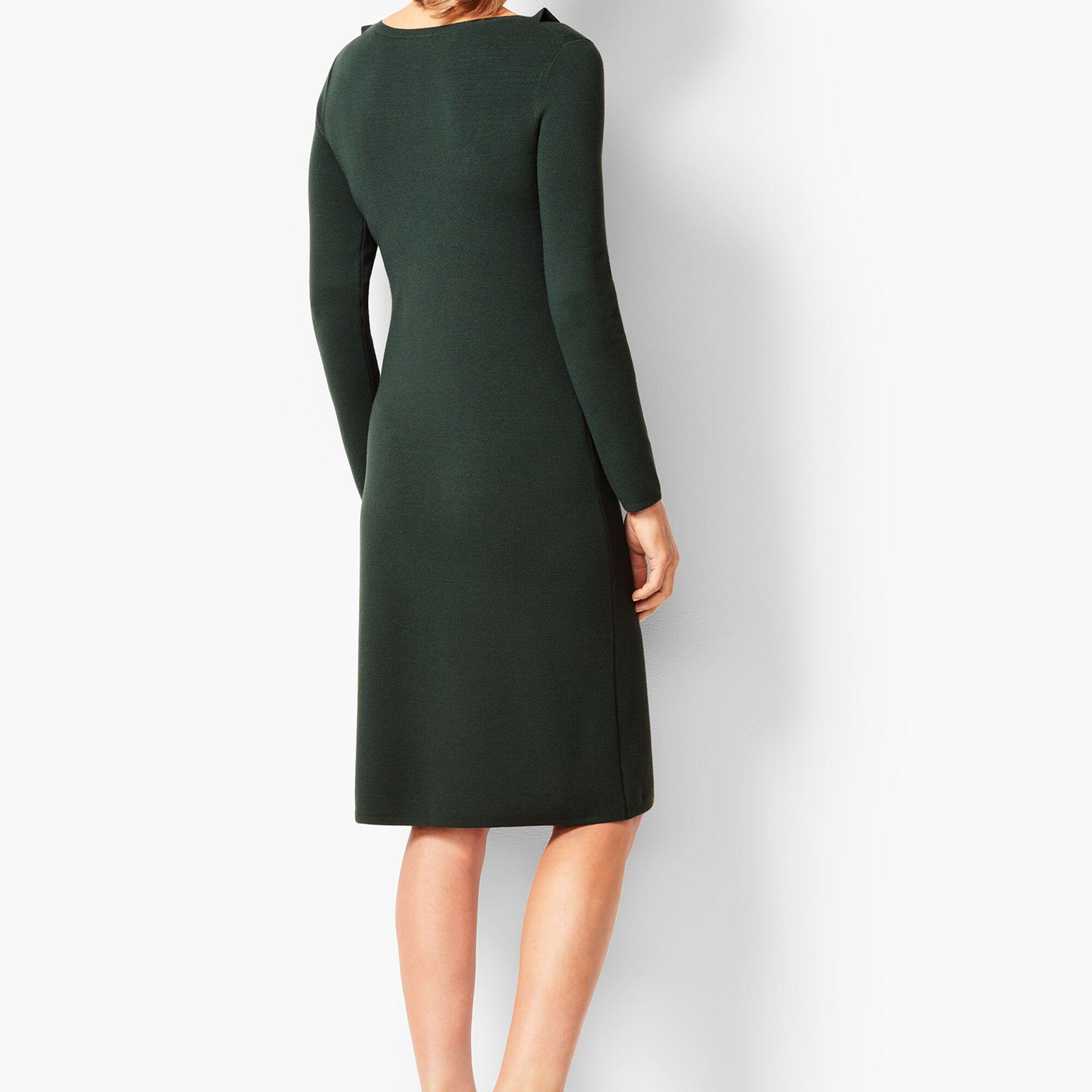 22fd39c04b Jewel-Neck Sweater Shift Dress Opens a New Window.