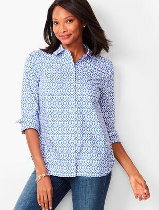 Classic Cotton Shirt - Geo Print