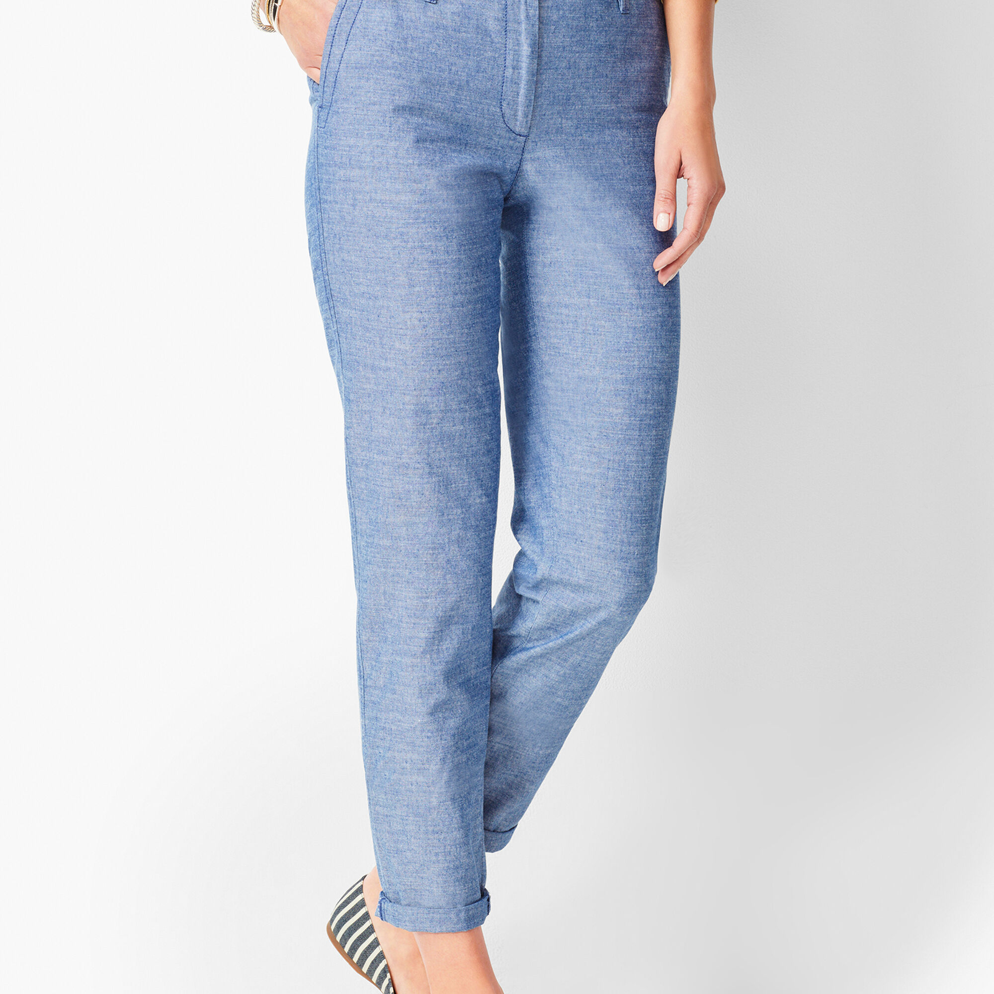 5a57fdfee6b Images. Girlfriend Chinos - Chambray