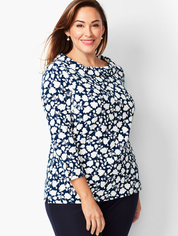 Portrait Collar Top - Floral
