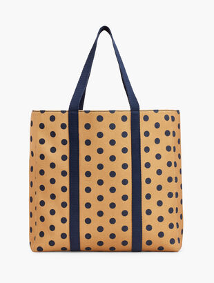 Dot Canvas Novelty Tote Bag