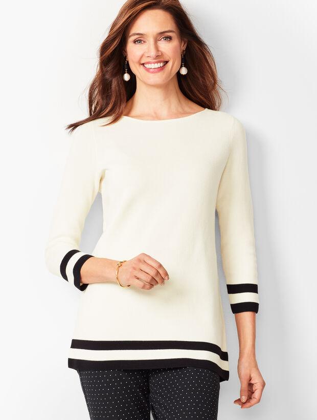 Banded-Hem Sweater