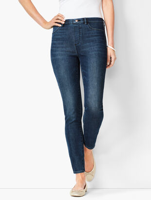 Pull-On Jeggings - Oleander