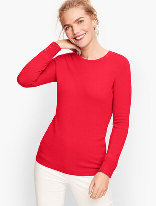 Cashmere Button Cuff Sweater