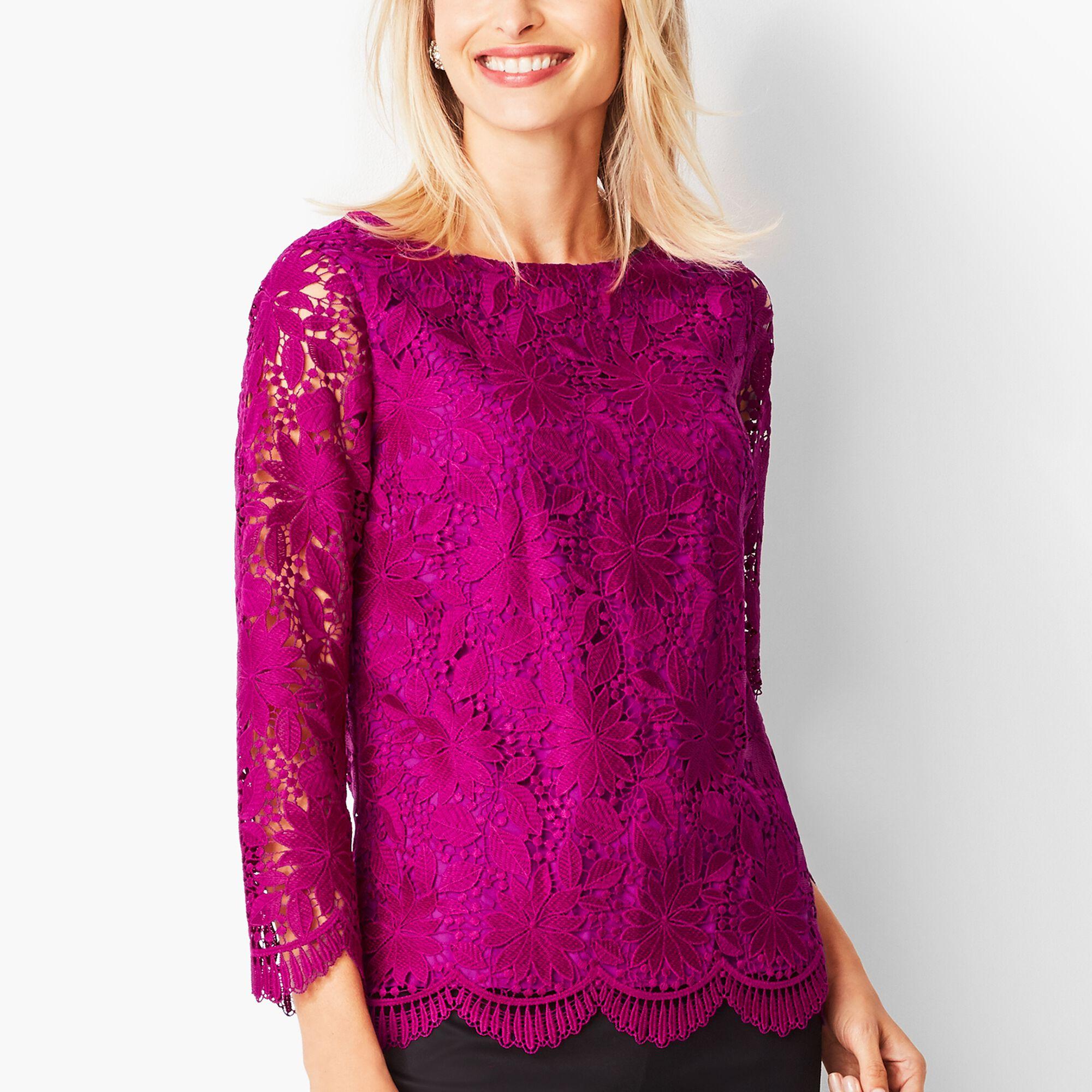 0a865e11d25 Floral Lace Top
