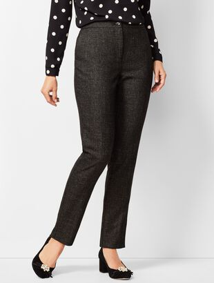Luxe Diamond Weave Collection - Slim-Leg Pants