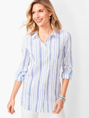 Classic Cotton Shirt - Variegated Stripe