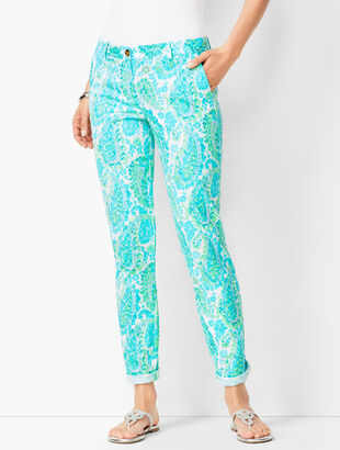 Girlfriend Chinos - Fresco Paisley