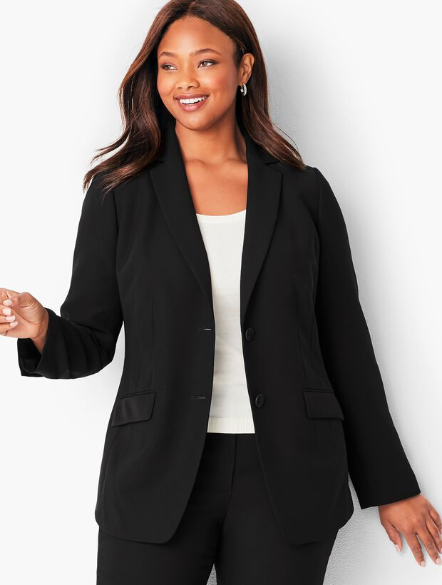 Seasonless Crepe Two- Button  Jacket