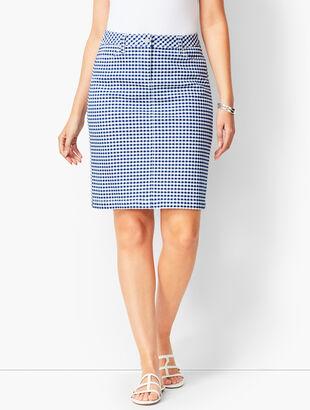 Gingham A-Line Cotton Skirt