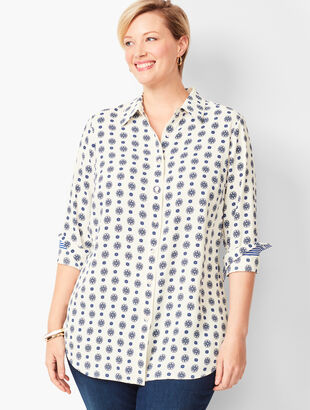 Medallion Button-Front Shirt