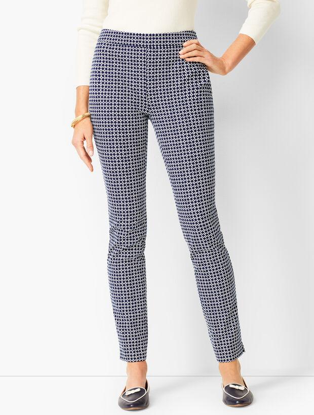 Talbots Chatham Ankle Pants - Geo Print - Curvy Fit