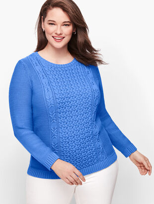 Mixed Cableknit Sweater