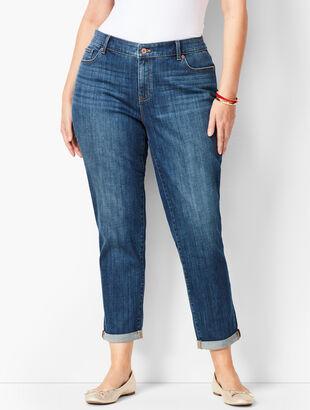 Plus Size Girlfriend Jeans - Curvy Fit -  Vector Wash