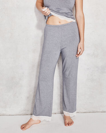 Cool Stretch Striped Lace Pants
