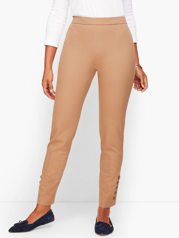 Talbots Chatham Button-Hem Ankle Pants - Curvy Fit